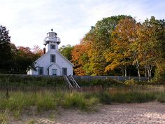 old mission point lighthouse, mission point peninsula, traverse city