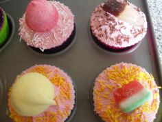 Sweet topped cupcakes