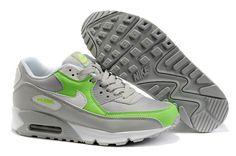 Nike Air Max 90 Herren Schuhe Grau/Grasgrün