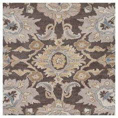 Cynwrig Area Rug - Charcoal (Grey), Taupe - (9' x 13') - Surya #AreaRugs