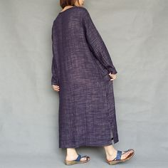 Women Maxi Dress Loose Cotton Linen Dress Long by loosedress2015