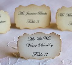 50 Wedding Escort Cards  Wedding Place Cards by teatimeandroses, $67.50