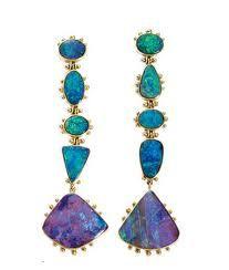 australian opal and diamond earrings -