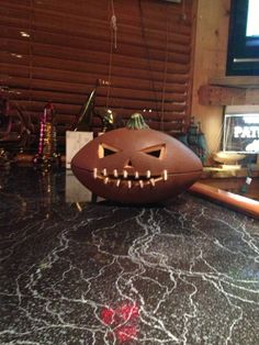 Football Jack O Lantern for Would be great for the football fans in the house.