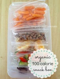 100 Calorie Snack Bag Ideas and Dieting Hacks & Tips After Baby - Postpartum Weight Loss Strategies that Work from food to exercise and more on Frugal Coupon Living!