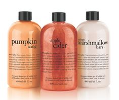 Ring in the season with three shower gels in pumpkin icing, apple cider and crispy marshmallow bars—scents that are good enough to eat.Philosophy Fall Favorites Set, $42, at qvc.com