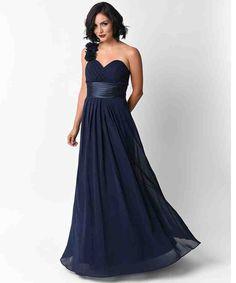 Navy Blue Bridesmaid Dresses Under 100