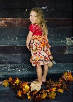 ThanksgivingFall dress fox leaves berries by SweetpeadesignsbyDee