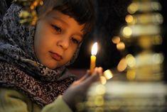 The Lenten Journey: Ways to Involve Children in Great Lent Russian Orthodox, Lent, Votive Candles, Birthday Candles, Faces, Lenten Season
