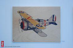 03 Grumman F3F_BiPlane FineArtPrint Holz 77 x 58 cm
