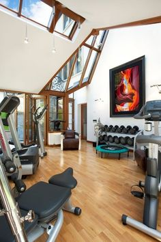 Top 10 Dream Home Gyms - This light and airy sun-trap of a dream home gym!
