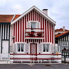 Striped houses of Costa Nova, Portugal