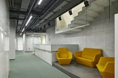 Ligne Roset seating in the waiting area of Alfa-Stroy Offices - Yekaterinburg - Office Snapshots