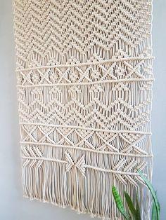 This item is unavailable Large Macrame Wall Hanging, Yarn Wall Hanging, Tapestry Wall Hanging, Wall Hangings, Window Hanging, Hanging Basket, Hanging Planters, Modern Macrame, Macrame Art