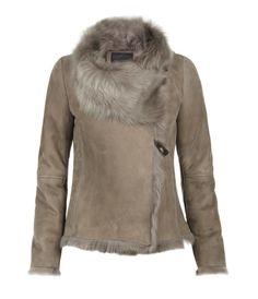 pale shearling jacket - divine!