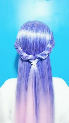 Cute Girls Hairstyles, Easy Hairstyles For Long Hair, Pretty Hairstyles, Braided Hairstyles, Hair Up Styles, Style Hair, Long Hair Video, Hair Videos, Hair Designs