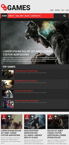 Games Most Popular website inspirations at your coffee break? Browse for more Drupal #templates! // Regular price: $75 // Sources available: .PSD, .PHP #Games #Most Popular #Drupal