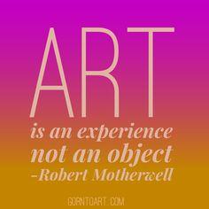 #Art is an experience. gorntoart.com