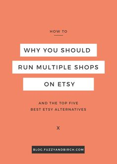 Why would you want to run more than one shop on Etsy? What will it do for your business? See why most successful sellers run multiple shops. Get the top 5 best Etsy alternatives and start expanding today. Etsy Business, Craft Business, Creative Business, Online Business, Baking Business, Creative Jobs, Affiliate Marketing, Marketing Website, Business Planning