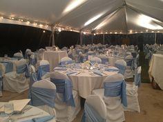 Dinner under tent