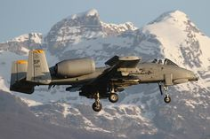 Fairchild-Republic A-10C Thunderbolt II Landing at Aviano AB, Italy ©Photo by Giampaolo Tonello