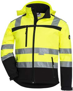 ACE Firefly Childrens High Visibility Jacket - Kids Jackets with Hood and Reflectors - Water-Repellent - 5 to 10 Years Old Jackets-Gilets Hooded Jacket, Bomber Jacket, Mantel, Work Wear, Motorcycle Jacket, Hoods, Sweatshirts, Boys Hoodies, How To Wear