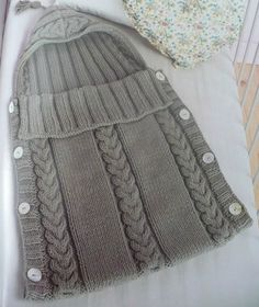 Trenza doble, Porta bebe Envelope Pattern, Crochet Cocoon, Landau, Sleep Sacks, Baby Afghans, Baby Patterns, Baby Knitting Patterns, Crochet Patterns, Loom Knitting