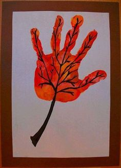 Hand and Foot Print Crafts Fall Paper Crafts, Autumn Crafts, Fall Crafts For Kids, Autumn Art, Art For Kids, Animal Art Projects, Fall Art Projects, Fingerprint Crafts, Alphabet Letter Crafts