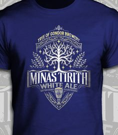Minas Tirith White Ale - The Lord of the Rings T-Shirt - Men's / Unisex & Women's Fit