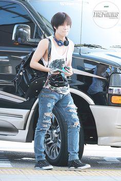 Taemin (SHINee) @ Incheon Airport 13.08.26 ~  Source : http://taemining.com/