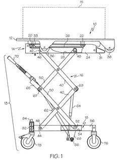 Patent US6431319 - Height-adjustable equipment cart with detachable table - Google Patents