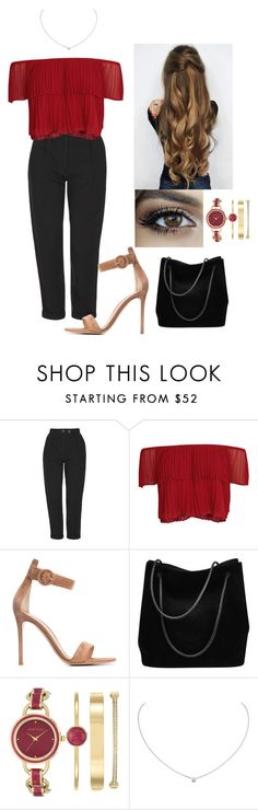"""""""Into you"""" by chupachups3 ❤ liked on Polyvore featuring Topshop, Keepsake the Label, Gianvito Rossi, Gucci, Anne Klein and Cartier"""