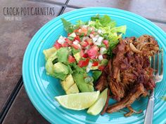 Paleo Crock Pot Carnitas on www.PopularPaleo.com | Super easy recipe for pork carnitas in the slow cooker!