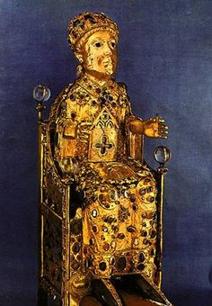reliquary in art | RELIQUARY STATUE OF ST FOY