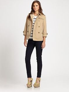 Cute take on the traditional Burberry trench