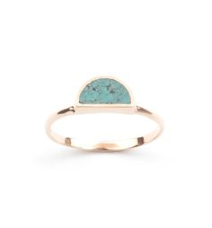 Newen Days Ring- Rose Gold and Turquoise