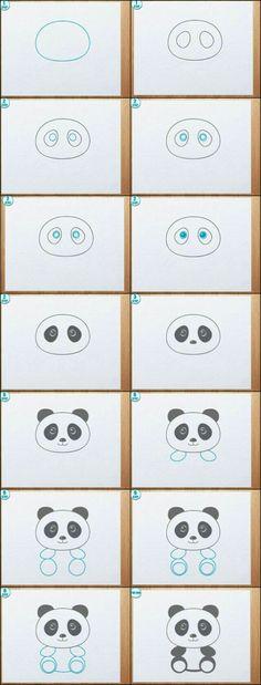 Dessiner un panda 💜🐼💜