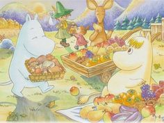 Wallpaper: The Moomins Cute Characters, Cartoon Characters, Moomin Wallpaper, Witty Remarks, Moomin Valley, Picture Writing Prompts, Tove Jansson, Classic Cartoons, Illustrations And Posters