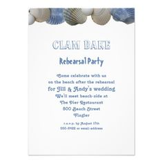 ShoppingClam Bake Rehearsal Party Invitationso please read the important details before your purchasing anyway here is the best buy