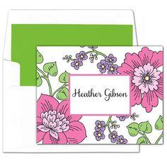 Spring Garden Foldover Note Cards