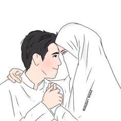 kumpulan anime kartun romantis anyar - my ely Couple Cartoon Pictures, Wedding Couple Cartoon, Love Cartoon Couple, Cute Couple Art, Anime Love Couple, Muslim Couple Quotes, Cute Muslim Couples, Best Facebook Profile Picture, Muslim Couple Photography