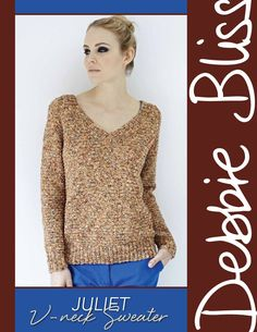 Juliet – V-neck Sweater | Knitting Fever Yarns & Euro Yarns, thanks so for share xox☆ ★ https://www.pinterest.com/peacefuldoves/