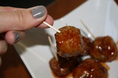 Mango Barbeque Chicken Meatballs