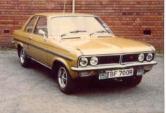 our first car we owned was a black Vauxhall Viva HC... we had to park it on an incline to jump start it and the floor boards on the passenger side was rusted out so I had to put my feet in the glove compartment