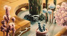 nausicaa's garden gif   ... the inspiring, slightly confusing Nausicaa of the Valley of the Wind