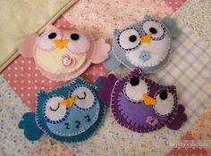 Felt owls #owl #felt #DIY