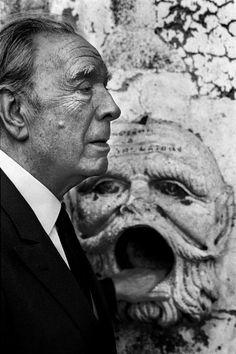 Jorge Luis Borges, 1984 by Ferdinando Scianna