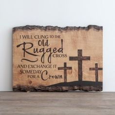The Old Rugged Cross - Wall Art (Fall Festival Auction? Diy Wooden Projects, Wooden Diy, Wooden Signs, Wood Crafts, Craft Projects, Wooden Cross Crafts, Project Ideas, Wood Burning Crafts, Wood Burning Patterns