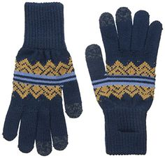 Blue American Treasures Jacquard Texting Gloves - Apparel & Accessories - National Cowboy Museum