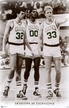 Kevin McHale, Robert Parish, Larry Bird...what a great group!! Basketball at its best in those days